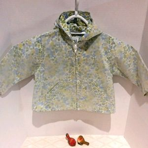 Baby Gap opaque raincoat with floral linin…